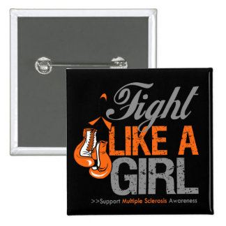 Fight Like a Girl Boxing - Multiple Sclerosis Buttons