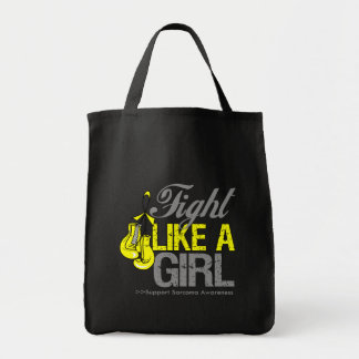 Fight Like a Girl Boxing - Sarcoma Tote Bag