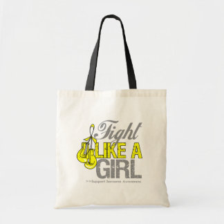 Fight Like a Girl Boxing - Sarcoma Tote Bags