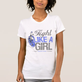 Fight Like a Girl Boxing - Stomach Cancer T Shirt
