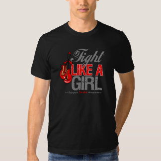 Fight Like a Girl Boxing - Stroke Tee Shirts