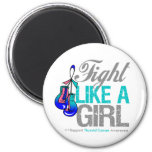 Fight Like a Girl Boxing - Thyroid Cancer Magnets