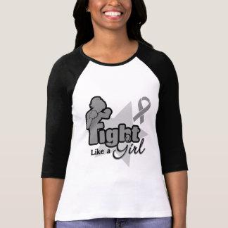 Fight Like a Girl - Brain Cancer T Shirt