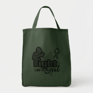 Fight Like a Girl - Brain Tumor Canvas Bags