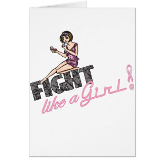 Fight Like A Girl Breast Cancer 2 Greeting Card