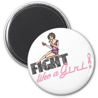 Fight Like A Girl Breast Cancer 2 Magnets