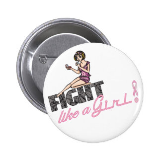 Fight Like A Girl Breast Cancer 2 Pinback Buttons