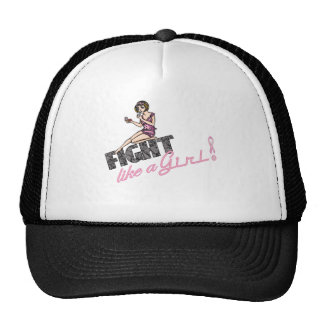 Fight Like A Girl Breast Cancer 2 Trucker Hat
