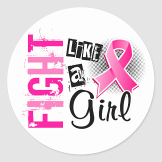 Fight Like A Girl Breast Cancer 36.8 Stickers