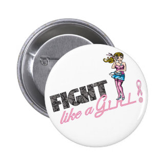 Fight Like A Girl Breast Cancer 4 Buttons