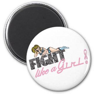Fight Like A Girl Breast Cancer Fridge Magnet