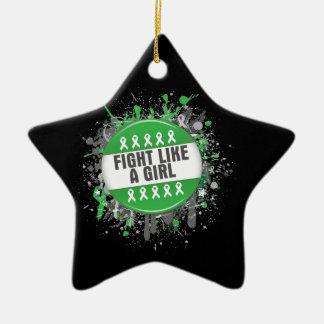 Fight Like a Girl  Button Mental Health Awareness Christmas Ornament