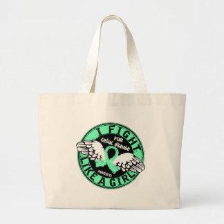 Fight Like A Girl Celiac Disease 16.5 Tote Bags