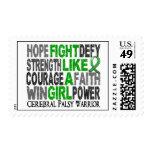 Fight Like A Girl Cerebral Palsy 23.4 Postage Stamp