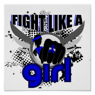 Fight Like A Girl CFS 33.8 Chronic Fatigue Syndrom Poster