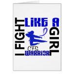 Fight Like A Girl CFS 3.2 Greeting Card