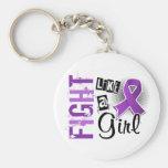 Fight Like A Girl Chiari Malformation 36.8 Key Chains