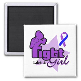 Fight Like a Girl - Childhood Stroke Refrigerator Magnet