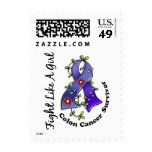 Fight Like a Girl Colon Cancer 29S Postage Stamps