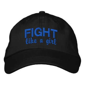 Fight Like A Girl Colon Cancer Embroidered Hats