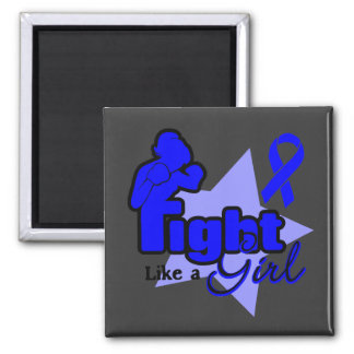 Fight Like a Girl - Colon Cancer 2 Inch Square Magnet