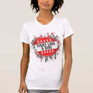 Fight Like a Girl Cool Button - AIDS T-shirts