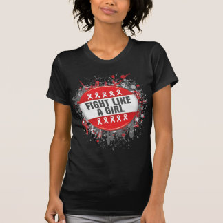 Fight Like a Girl Cool Button - AIDS T Shirts