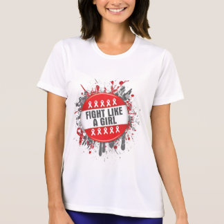 Fight Like a Girl Cool Button - AIDS Tshirt