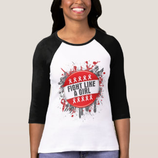 Fight Like a Girl Cool Button - AIDS Tshirts