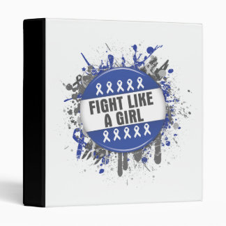 Fight Like a Girl Cool Button - Anal Cancer Binder