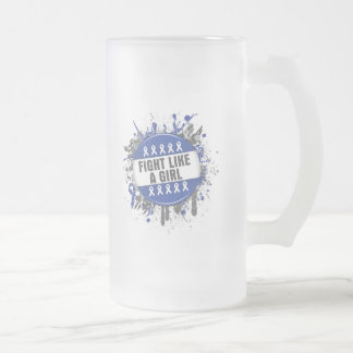 Fight Like a Girl Cool Button - Anal Cancer Mugs