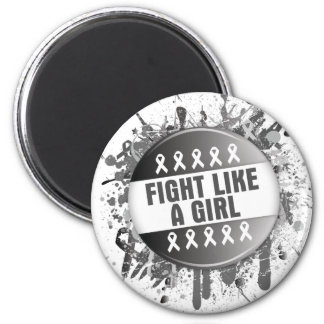 Fight Like a Girl Cool Button - Carcinoid Cancer Fridge Magnets