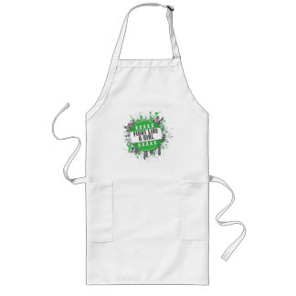 Fight Like a Girl Cool Button - Cerebral Palsy Long Apron