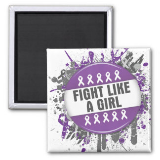 Fight Like a Girl Cool Button - Epilepsy Magnets