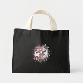 Fight Like a Girl Cool Button - Head Neck Cancer Tote Bags