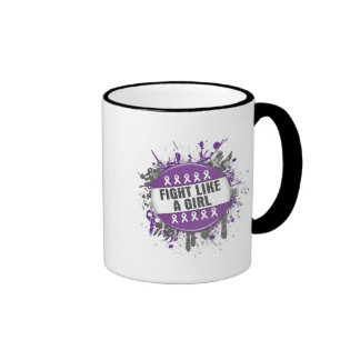 Fight Like a Girl Cool Button - Leiomyosarcoma Coffee Mugs