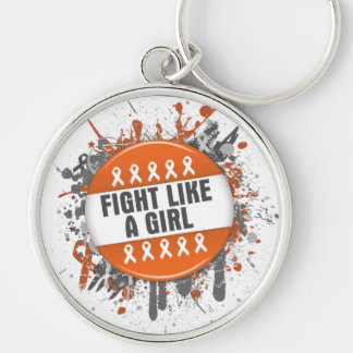 Fight Like a Girl Cool Button - Leukemia Keychain