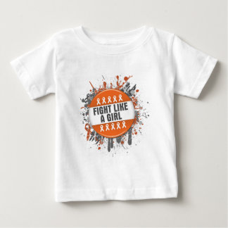 Fight Like a Girl Cool Button - Leukemia Tshirt