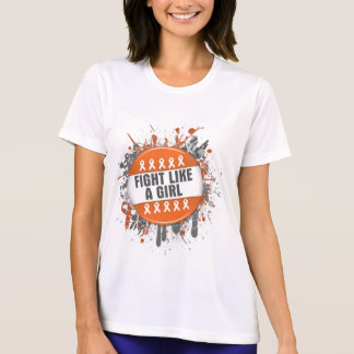Fight Like a Girl Cool Button - Leukemia Tee Shirts