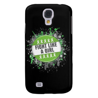 Fight Like a Girl Cool Button - Lyme Disease Samsung Galaxy S4 Cases