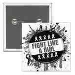 Fight Like a Girl Cool Button - Melanoma