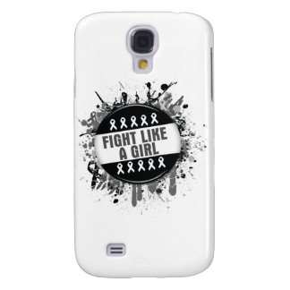 Fight Like a Girl Cool Button - Melanoma Galaxy S4 Cases