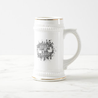 Fight Like a Girl Cool Button Parkinson's Disease Coffee Mug