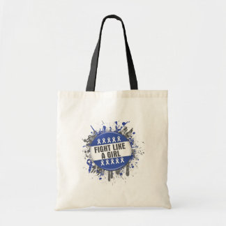 Fight Like a Girl Cool Button - Rectal Cancer Canvas Bags