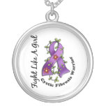 Fight Like A Girl Cystic Fibrosis 29.4 Custom Necklace