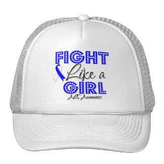 Fight Like a Girl Dazzling - ALS Disease Trucker Hat