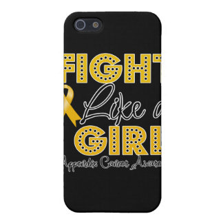 Fight Like a Girl Dazzling - Appendix Cancer iPhone 5 Cases