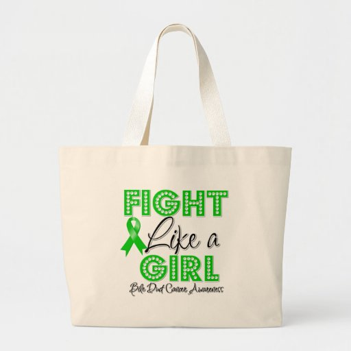 Fight Like a Girl Dazzling - Bile Duct Cancer Canvas Bags