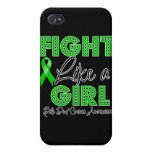 Fight Like a Girl Dazzling - Bile Duct Cancer Cover For iPhone 4