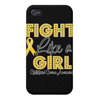 Fight Like a Girl Dazzling - Childhood Cancer Covers For iPhone 4